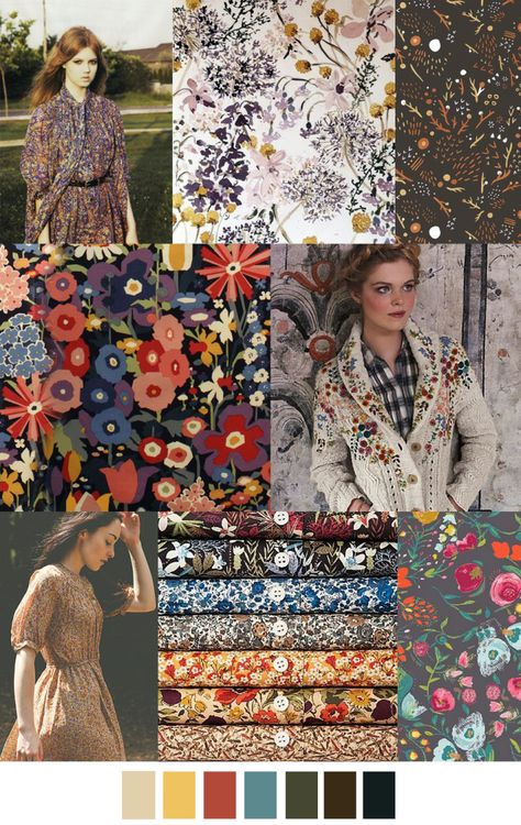WOODSIDE BLOOM --- my fabric in a trend report! Bottom right hand corner is my budquette print from Emmy Grace