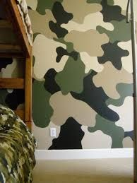 Kids Camouflage Bedroom Ideas   Nate Would Love To Do This If We Ever Have  A Boy Baby