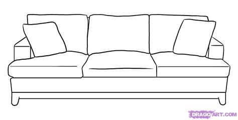 Drawings Of Sofas How To Draw A Couch Step 5 Sofa Drawing Drawing Furniture Interior Design Sketches