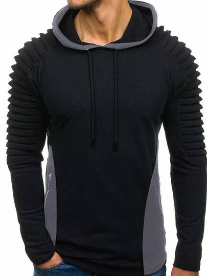 Herren Kapuzenpullover Hoodie in Twill Structured Quality 28