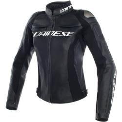 Dainese Racing 3 Damen Motorrad Lederjacke Schwarz 48 Dainese