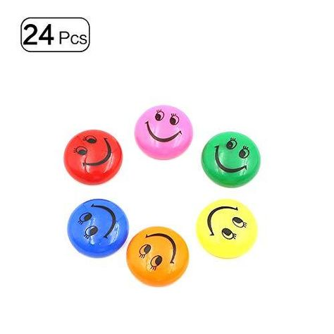 30mm Fridge Magnets Round Funny Smiley Face Magnets for Whiteboards Colorful 24Pcs - Smiley face