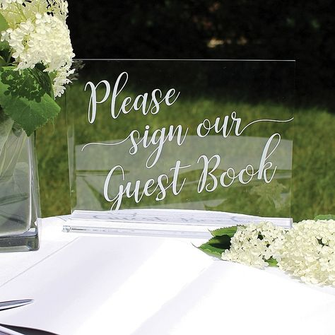 Lillian Rose Acrylic Wedding Signs In Clear (Set Of 3) - Add an elegant accent to your wedding décor with the Lillian Rose Acrylic Wedding Signs. With a stunning glass look, the wedding signs feature silk screened letters in white and an acrylic stand is included for easy display.
