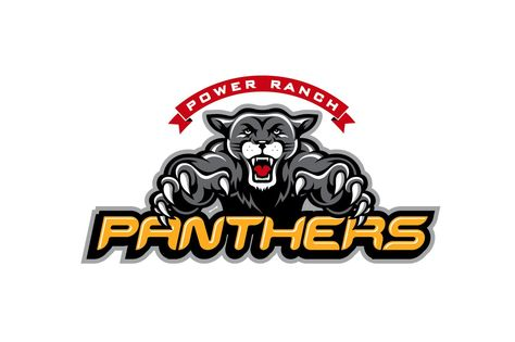 Power Ranch Elementary & Middle School - Panthers Mascot Logo created by Tactix Creative in Arizona. #TactixCreative #graphicdesign