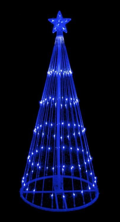 6 Blue Led Lighted Show Cone Christmas Tree Outdoor Decoration 32912673 Cone Christmas Trees Blue Led Lights Outdoor Tree Lighting