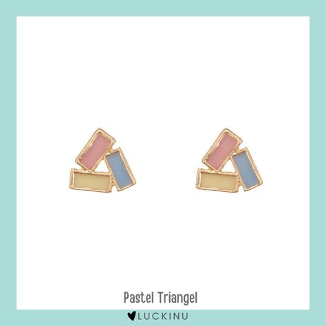 Pastel Triangle Solid Earring S925 Hook $12.99
