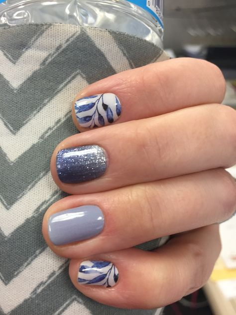 Jamberry Copenhagen, Serenity Ombré, and Tidepool! Love this combo!