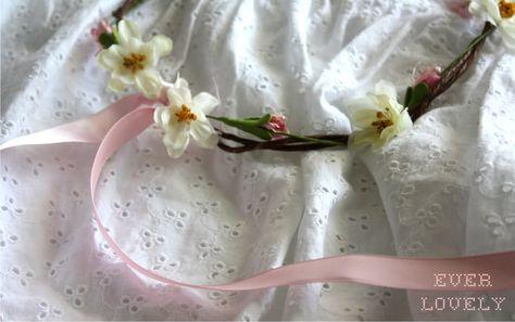 flower vine hair wreath tutorial