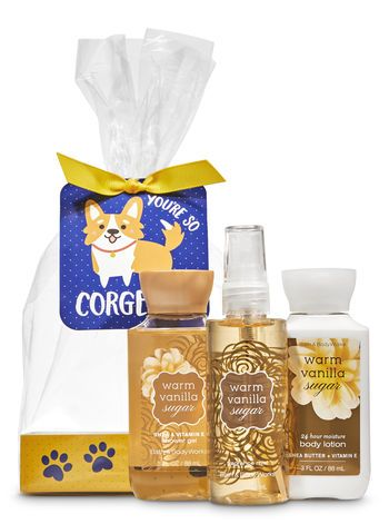 Warm Vanilla Sugar You Re So Corgeous Mini Gift Set Bath And