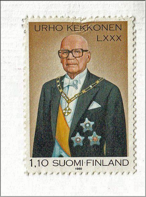 Postimerkki 1980 Presidentti Urho Kaleva Kekkonen 3 9 1900