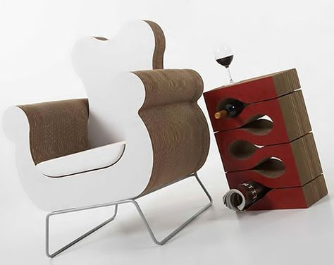Italian furniture maker Kube is putting style to paper – literally – with this cool new cardboard furniture collection. Taking eco-sustainable design to trendy new heights, the pieces are 100% recyclable.