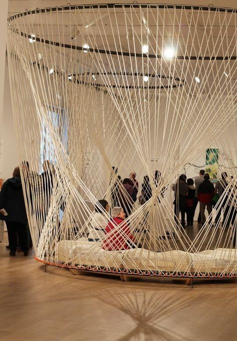 Studio Gang Architects at The Art Institute of Chicago Rope structure Art Institute Chicago — Buildi