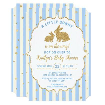 Little Bunny Boys Easter Baby Shower Invitation Zazzle