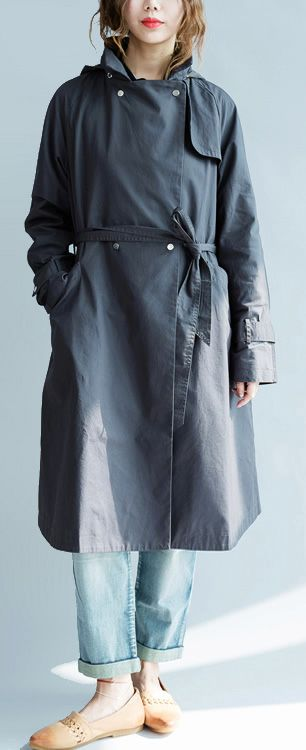 6d6afeafde3  132.00-boutique 2018 spring Black trench coats clothing casual oversized  jackets