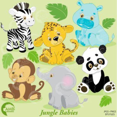 Pin By Solomon Jahaziel On Projetos De Costura Jungle Animals Clipart Animal Clipart Baby Jungle Animals