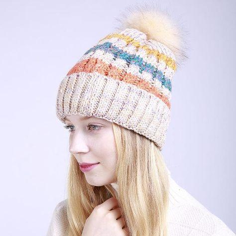 f1a9523485b Women Pom Pom Hat Female Winter Autumn Knitted Beanies Ball Cap Ladies Hats  Fashion Pompon Beanies Hat Female Warm Caps