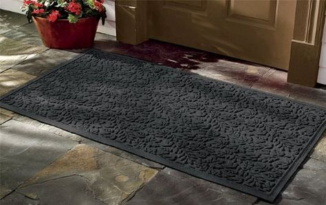 Leaf Pattern Water Trapper Mats Only 17 1 2 X 27 1 2 Charcoal By Orvis 29 00 Used In Homes And In The Area Rug Decor Kitchen Area Rugs Area Rug Pad