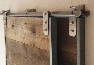 Low Profile Mini Bypass Barn Door Hardware Track Kit Barn Door
