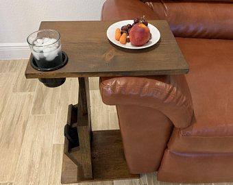 Industrial C Table Couch Table Industrial Sofa Table Steampunk C Table End Table C-Table Sofa Arm Table Couch Arm Table Sofa Table