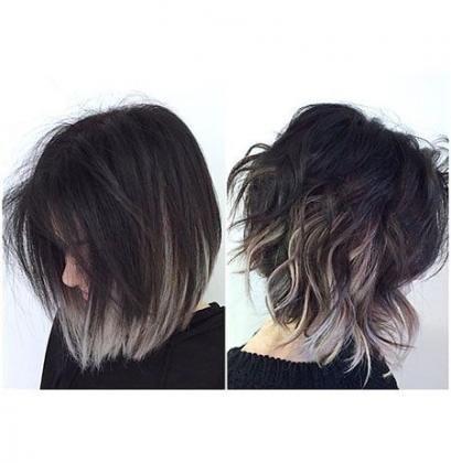 19 Ideas Hair Short Grey Ombre Short Ombre Hair Grey Ombre Hair Short Hair Color