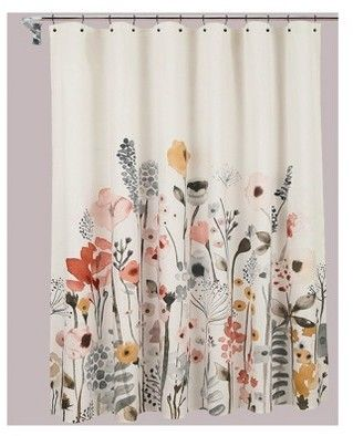 Threshold Shower Curtain Floral Wave Thresholdtm Floral Shower Curtains Floral Bathroom Floral Shower