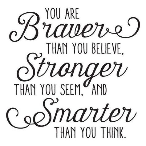 Braver Stronger Smarter Whimsy Wall Quote Decal Nursery Inspirational Believe Wall Art Decor Vinyl Wall Decal Disney Winnie the Pooh