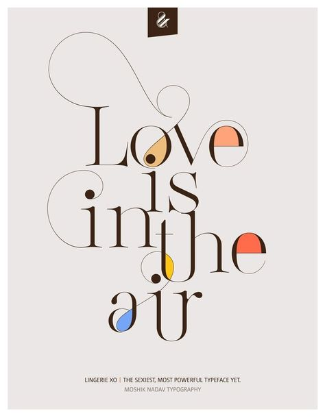 Love is in the air poster - Moshik Nadav Typography