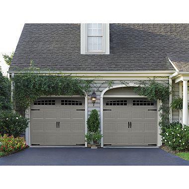Amarr Hillcrest 1000 Sandtone Panel Garage Door Multiple Options Sam S Club Garage Door Styles Garage Door Design Carriage House Garage Doors
