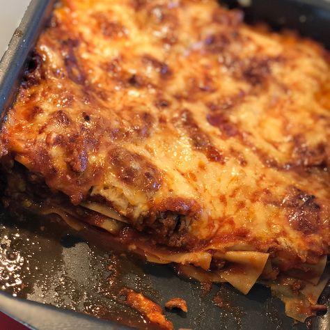 nyttig lasagne med köttfärs