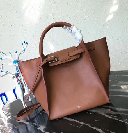 Celine bags 2018 Celine Medium Big Bag in Brown Smooth Calfskin Leather