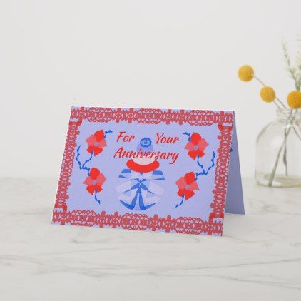 Original Digital Art On Anniversary Card Zazzle Com Anniversary Cards Congratulations Card Anniversary Congratulations