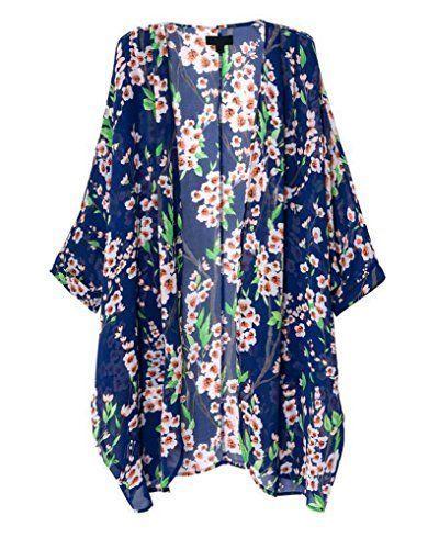 How To Sew A Kimono Top Or Jacket The Polka Dot Chair Loose Kimono Floral Kimono Cardigan Floral Print Kimono