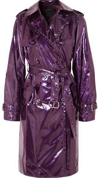 6886c13771825 Marc Jacobs - Metallic Vinyl Trench Coat - Purple Marc Jacobs' Fall ...