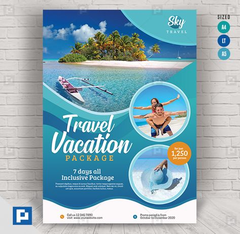 Travel and Tour Services Flyer - PSDPixel