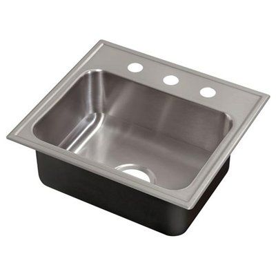 Just Manufacturing Kitchen Sink SLX-2125-A-GR Drop-In Single Deep Bowl