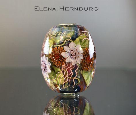 Flamework Artglass Canadian Turtle Pendant Turtle Beads Studio Lampwork Glass Artisan Glasswork Sculpture Focal Bead