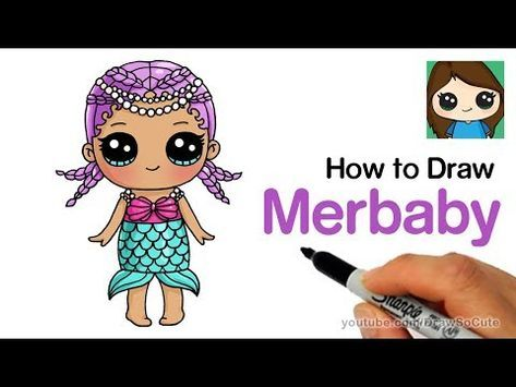 How To Draw Merbaby Easy Lol Surprise Doll Youtube Cute Easy Drawings Doll Drawing Merbaby