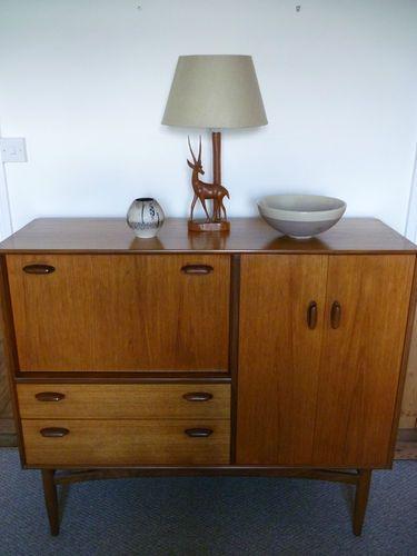 Vintage Rare E Gomme G Plan Teak Sideboard Bureau Drinks Cabinet Cupboard Ebay
