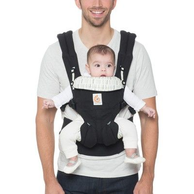 Pearl Grey,Black Omni 360 All in One Baby Carrier w// Pouch Ergobaby Carrier