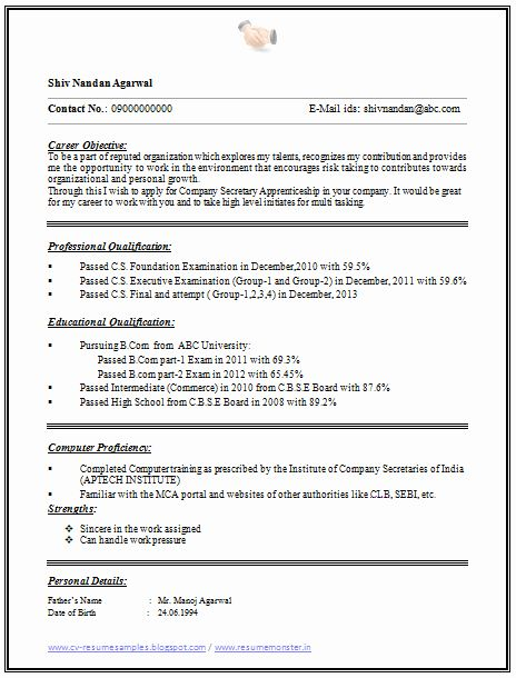 1 Page Resume Template Unique Over Cv And Resume Samples With Free Download E Resume Format For Freshers Resume Examples Resume Format