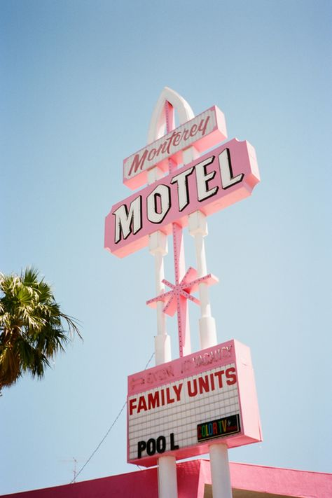 Monterey Motel, we're inspired by vintage / retro signs!