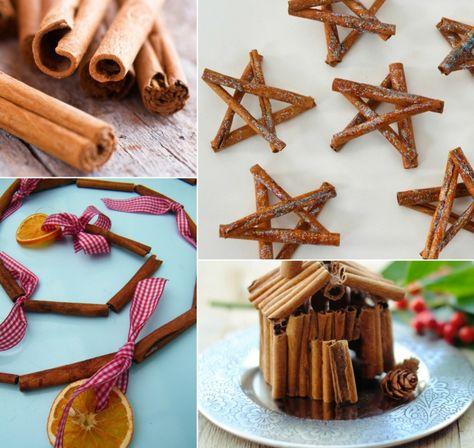Weihnachtsbasteln Mit Naturmaterialien Dekorationen Aus Zimtstangen Weihnachtsbasteln Naturmaterialien Und Basteln