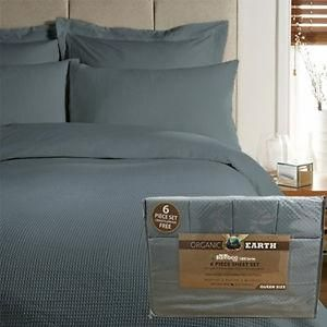 Organic Earth Bamboo Essence 6 Piece King Size Bed Sheet Set Deep