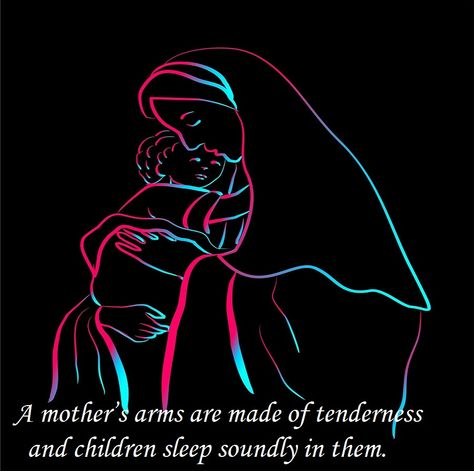 A mother's arms are made of tenderness and children sleep soundly in them. #mother #mom #baby
