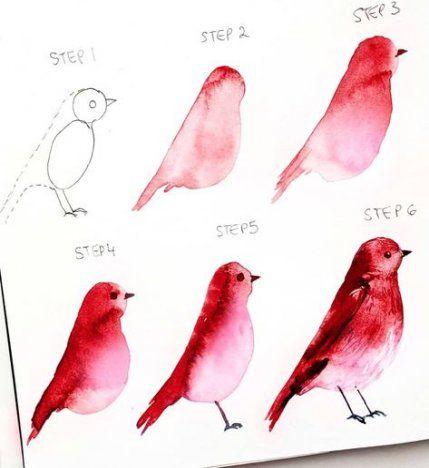 48 Ideas For Simple Bird Illustration Watercolour Bird In 2020