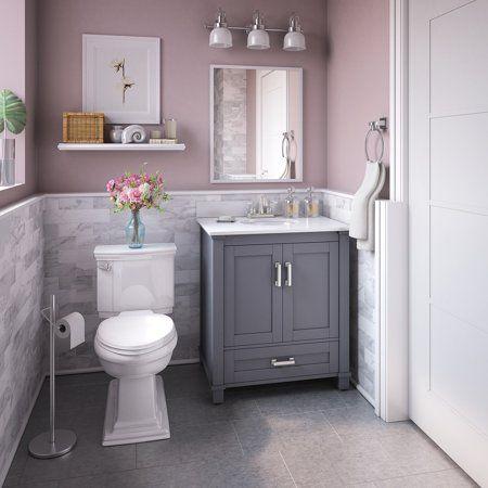 Bello Castle Point 30 In Freestanding Single Sink Bathroom Vanity