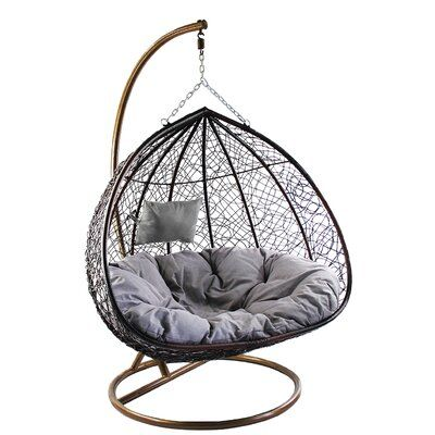 Bay Isle Home Cutright Double Swing Chair With Stand Wayfair Swing Chair Bedroom Swinging Chair Girl Bedroom Decor