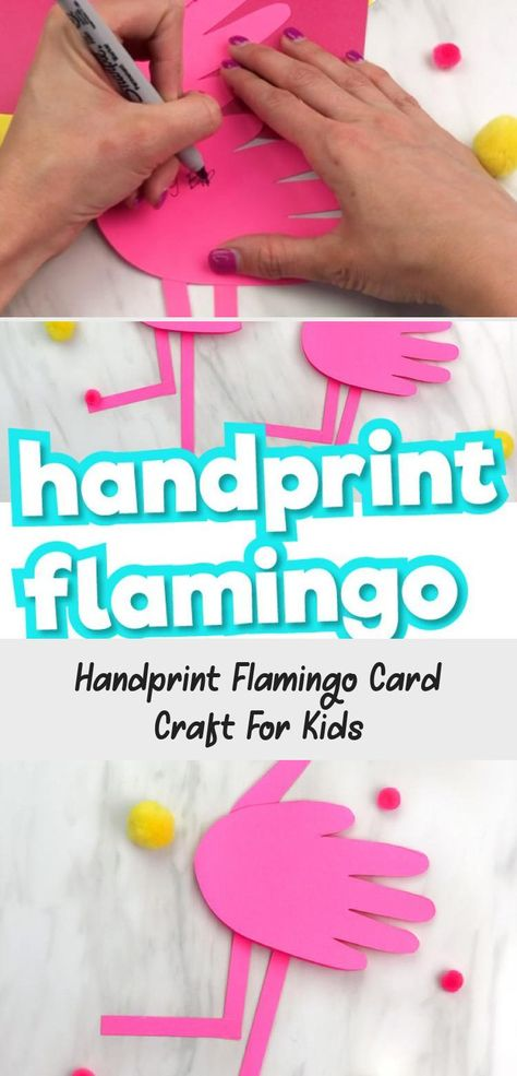 This simple flamingo craft is a fun and easy summer craft for kids. It comes with a free printable template so it's easy to recreate at home or in the classroom! #simpleeverydaymom #freeprintables #flamingo #kidscrafts #craftsforkids #classroom #teaching #summercrafts #kidsactivities #Canvascrafts #Seashellcrafts #Eastercrafts #Cutecrafts #Unicorncrafts