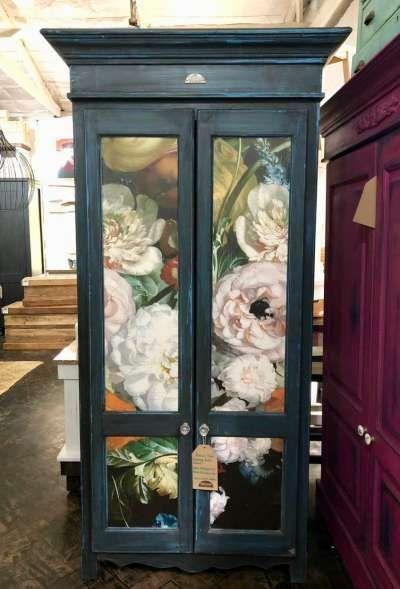 Custom Floral Cupboard Cafe Cafe House Cupboard