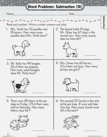 Best 25 Mental Maths Worksheets Ideas On Pinterest 2nd Grade Subtraction Word Problems Word Problems Word Problem Worksheets